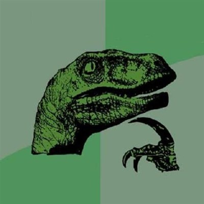 It takes millions of years of deep introspection to be able to think as deep as Philosoraptor, but you can try.