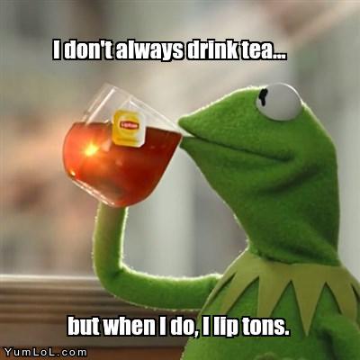 Kermit the tea drinker icon